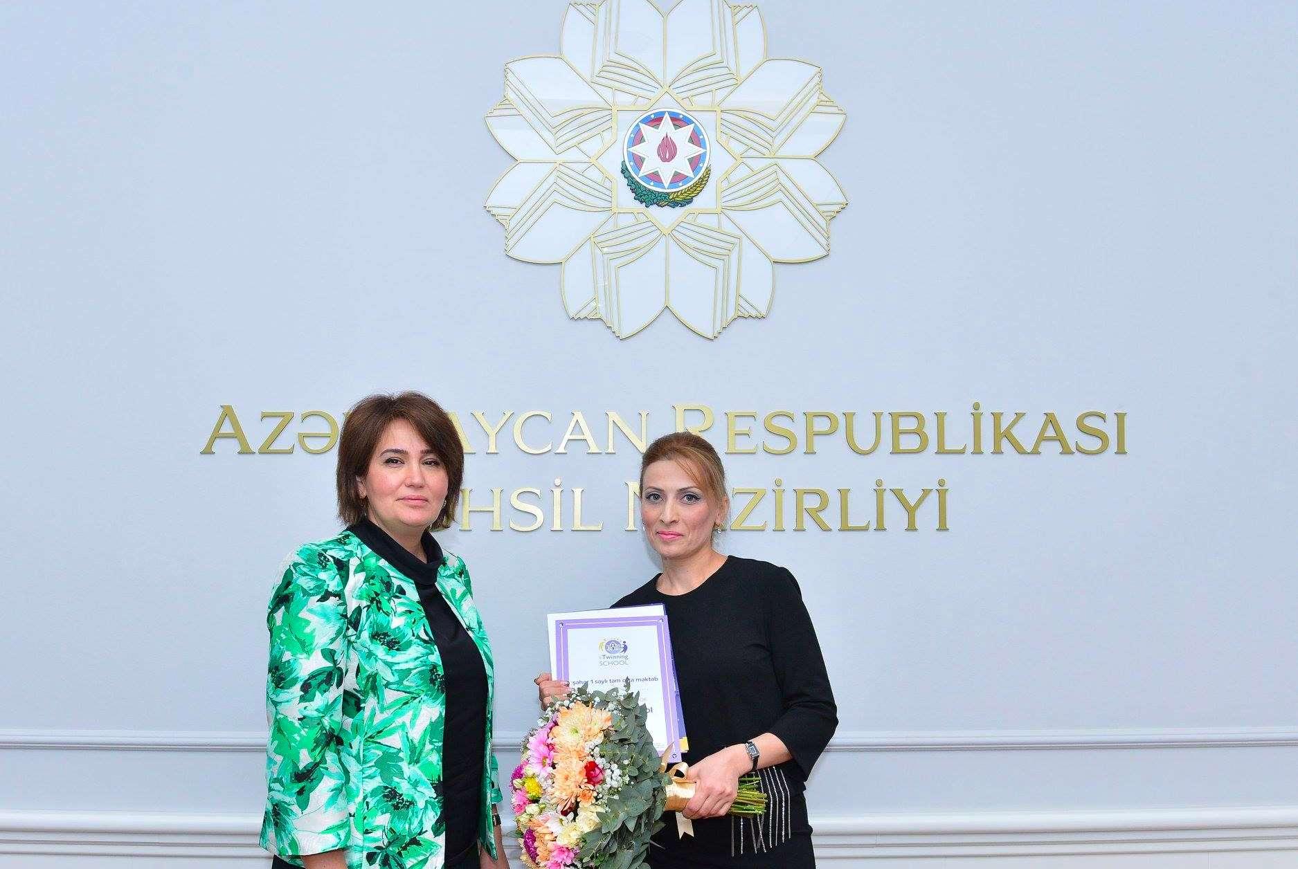 6 schools from Azerbaijan got 2018-2019 eTwinning school label